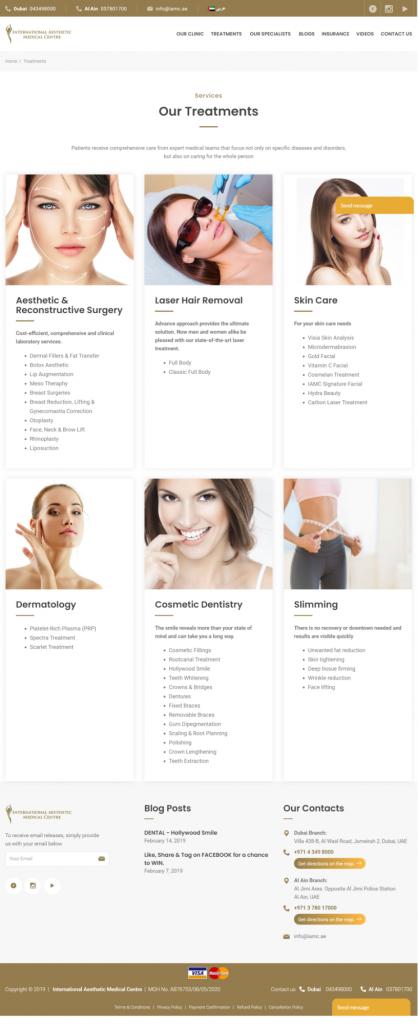 Новый сайт клиники IAMC - маркетинговый кейс